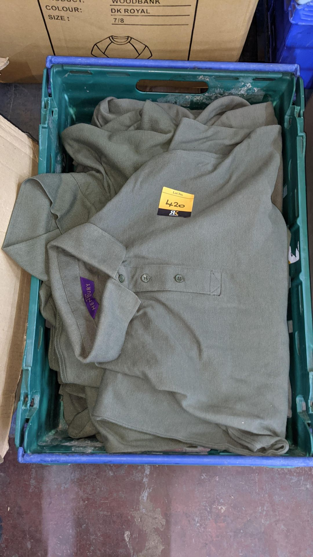 Approx 10 off green polo shirts - Image 2 of 4