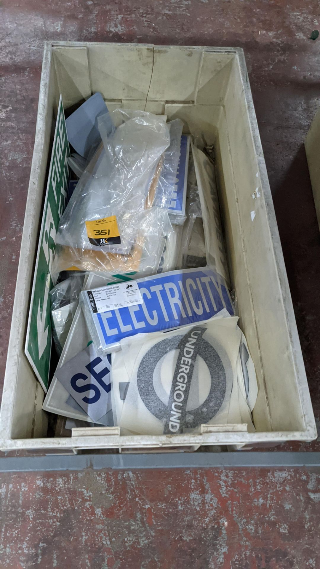 The contents of a crate of assorted patches, signage & transfers. NB crate excluded - Image 3 of 5