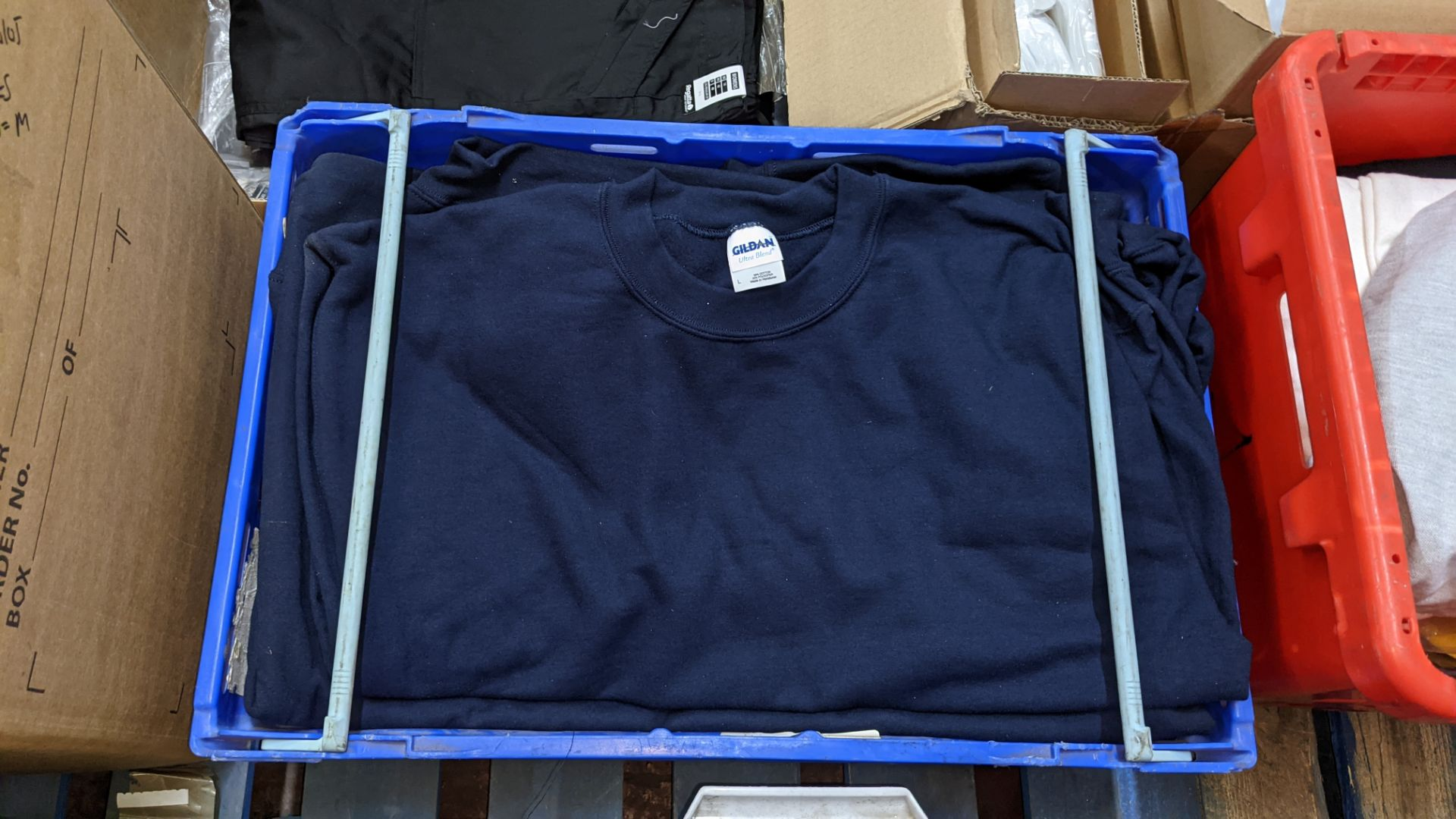 Quantity of blue sweatshirts (2 crates) - Image 3 of 4