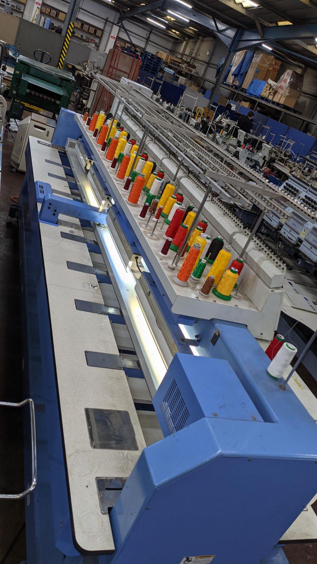 Happy 8 head embroidery machine, model HCG-1508B-45TTC, 15 needles per head, including frames & othe - Image 24 of 32