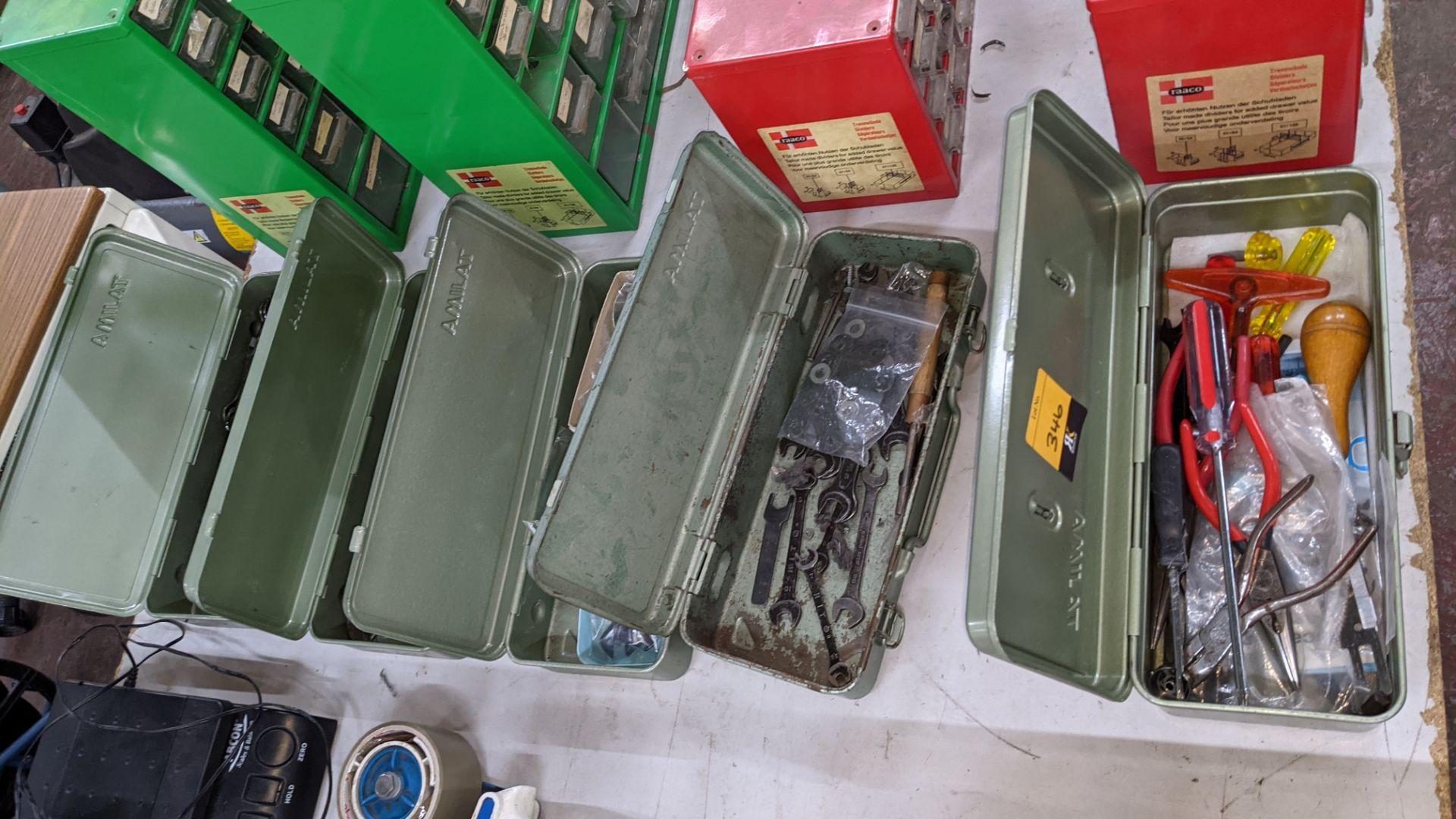 5 off Tajima tool kits & their contents