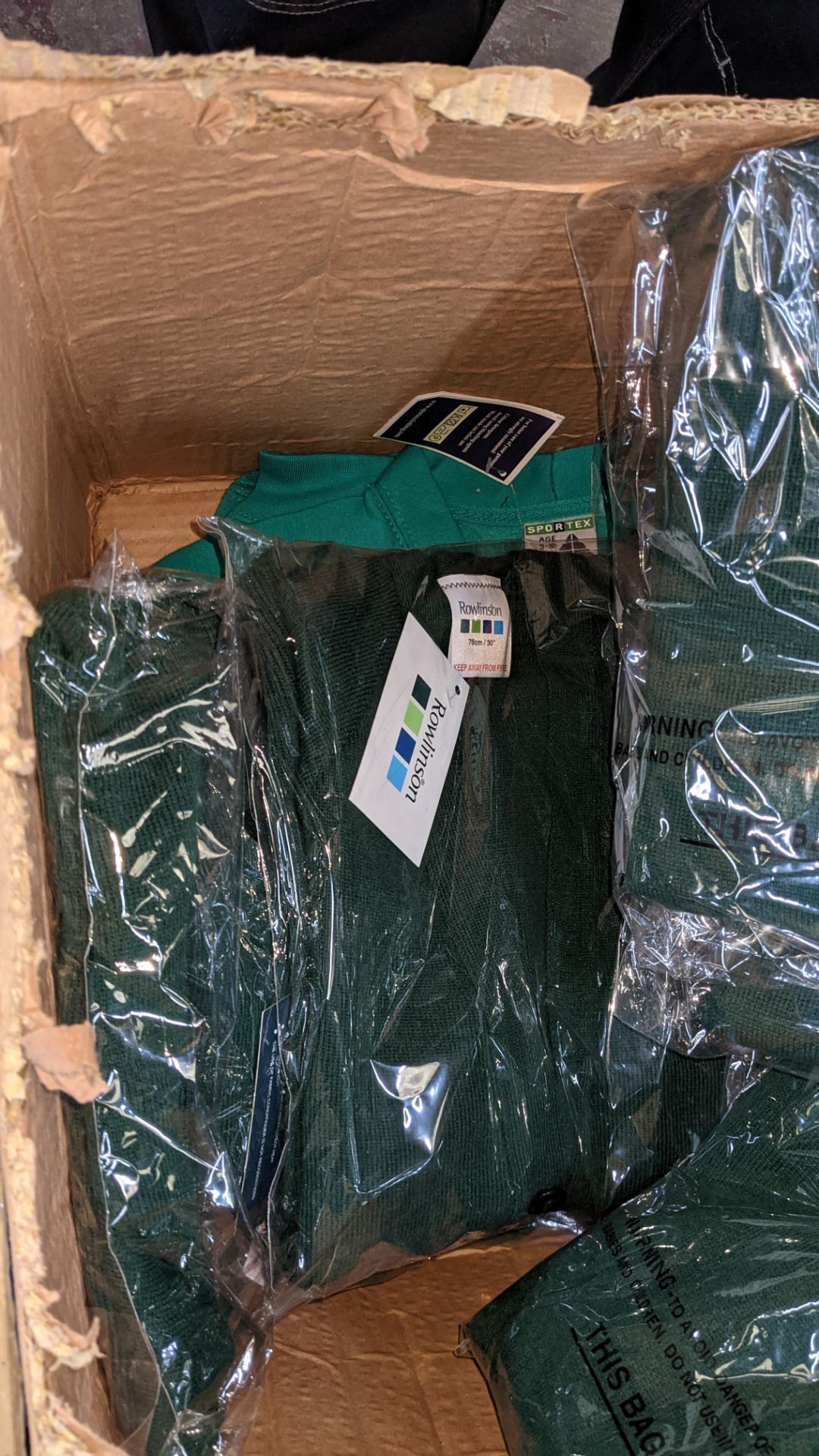 Approx 18 off Rowlinson children's green button up sweat tops - 1 large box - Image 6 of 6