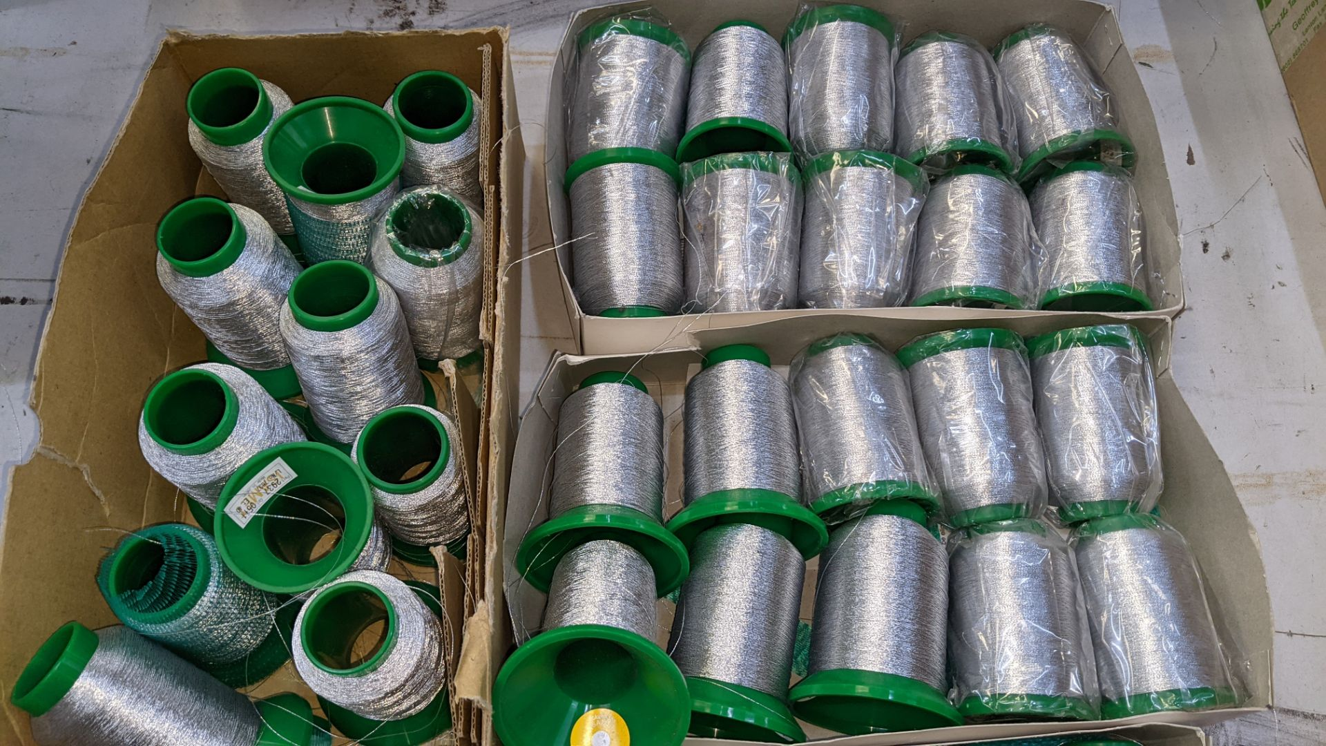 6 open boxes of silver/sparkly embroidery thread - Image 5 of 5
