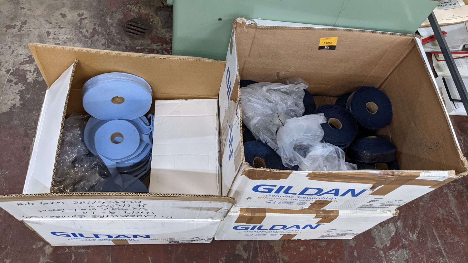3 boxes/part boxes of blue fabric tape