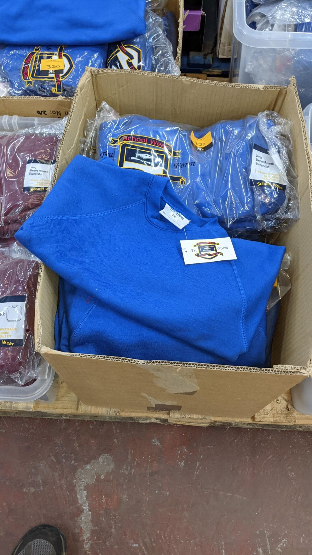 Approx 29 off blue children's sweatshirts & similar - the contents of 1 box - Image 2 of 4