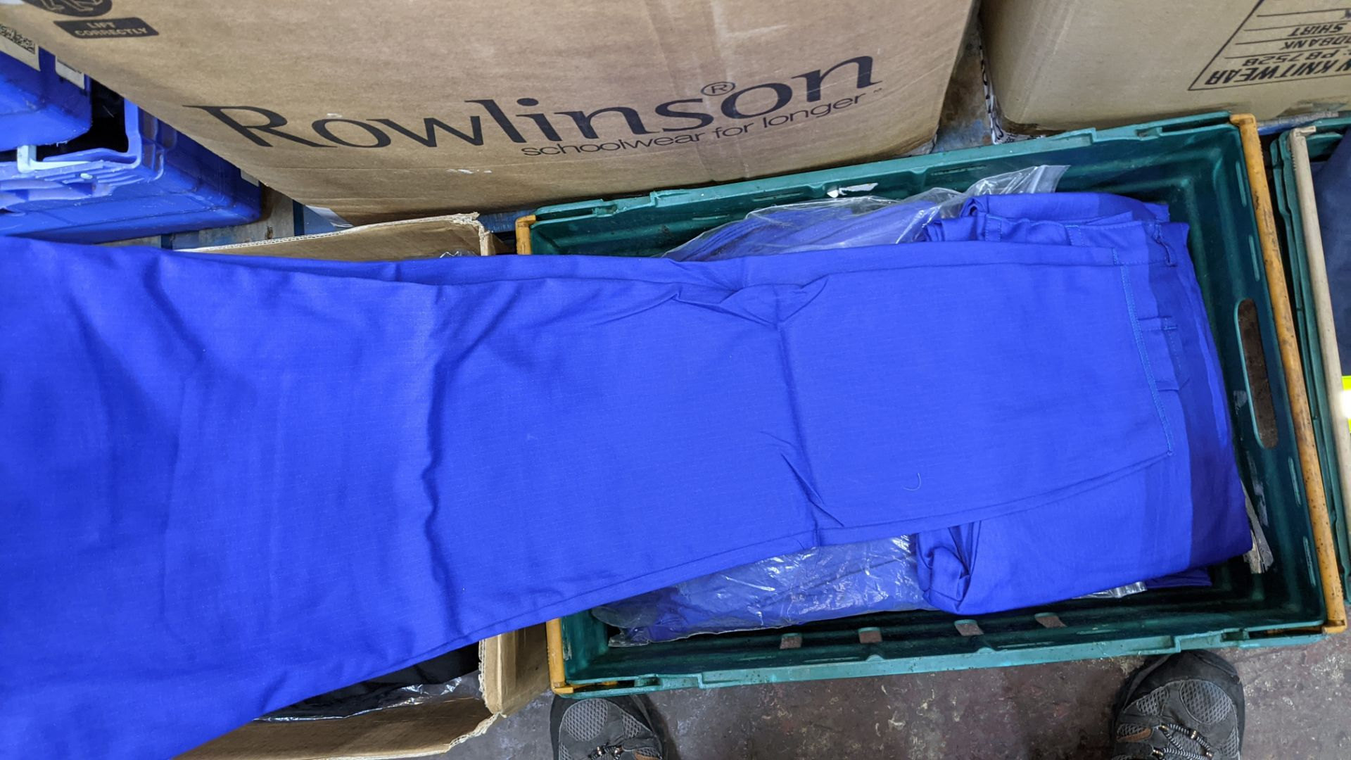 Quantity of black & blue trousers comprising the contents of 1 box & 1 crate - Image 7 of 8