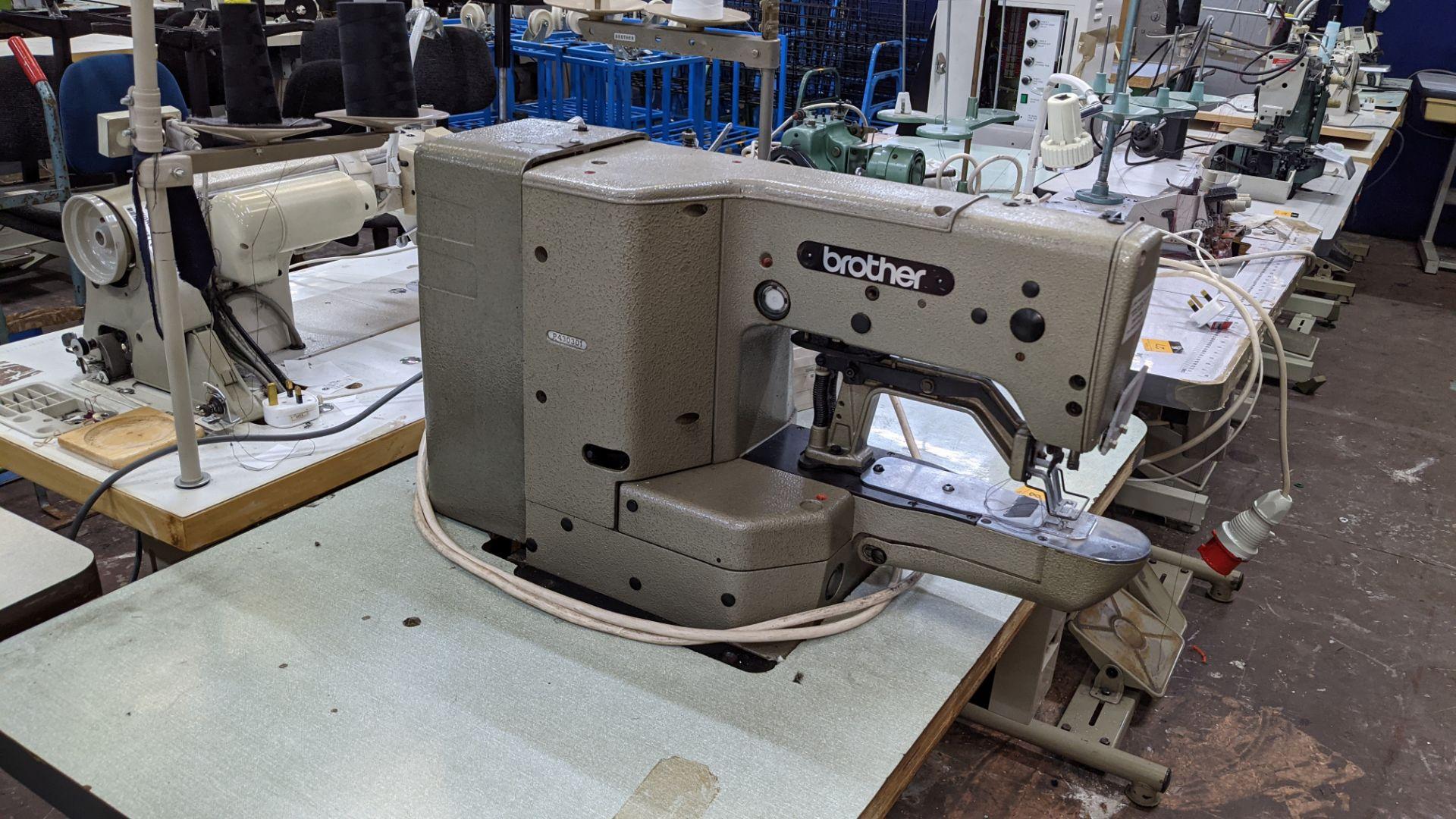 Brother bar tack sewing machine model LK3-B430-2 - Image 10 of 15