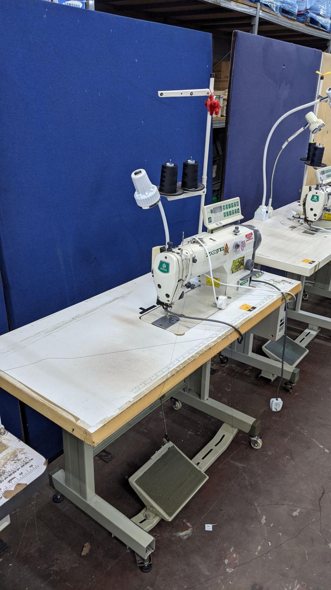 Zoje model ZJ9800A-D3B/PF lockstitch sewing machine with model WR-501 digital controller - Image 20 of 20