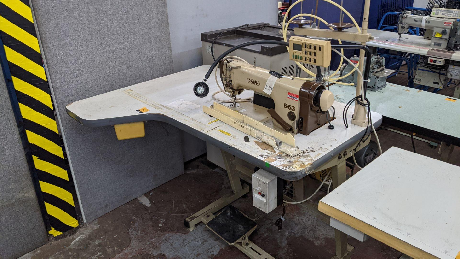 Pfaff model 563 sewing machine with Efka modular V720 digital controller
