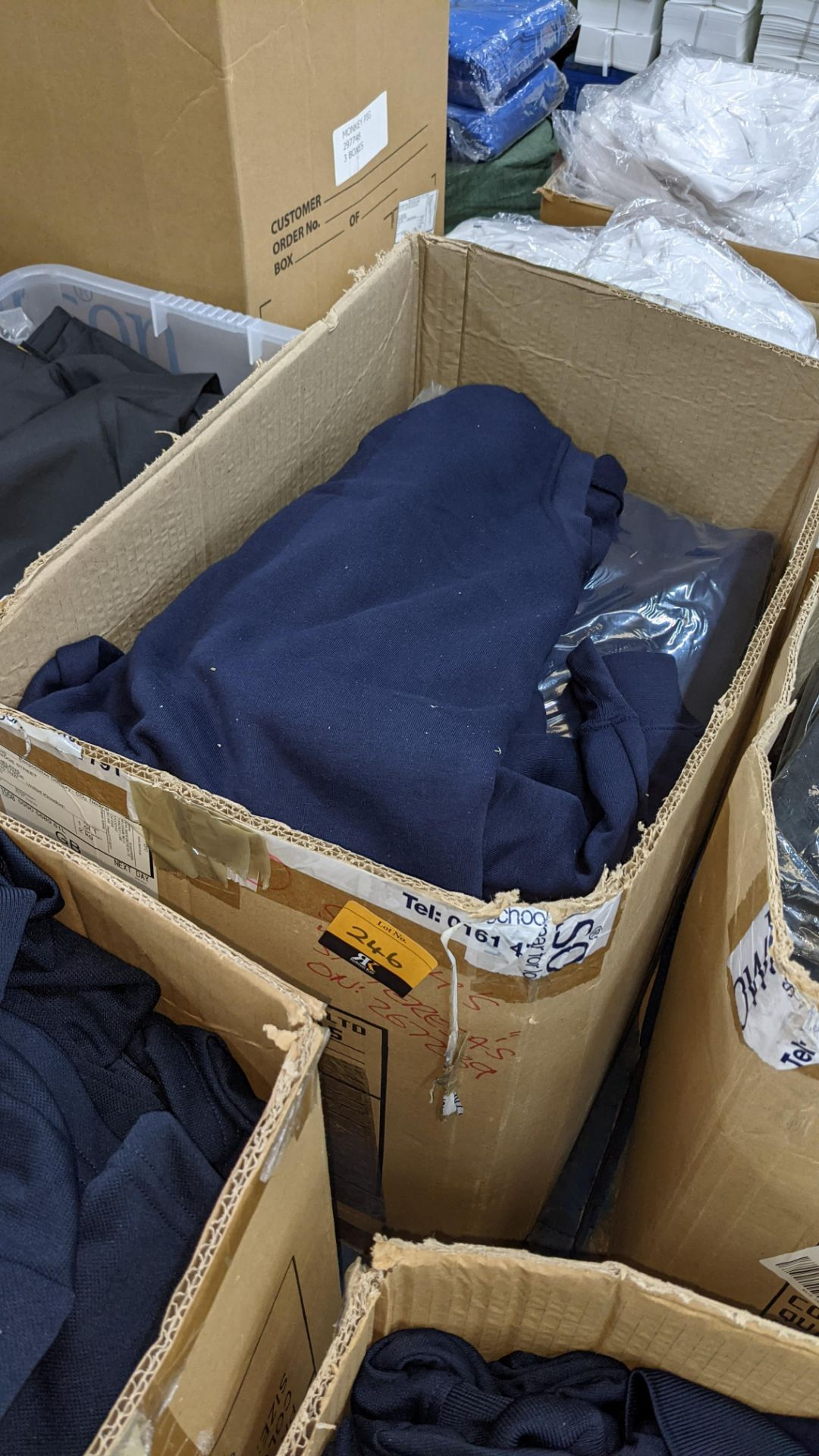Approx 20 off blue sweatshirts - 1 large box - Image 2 of 5