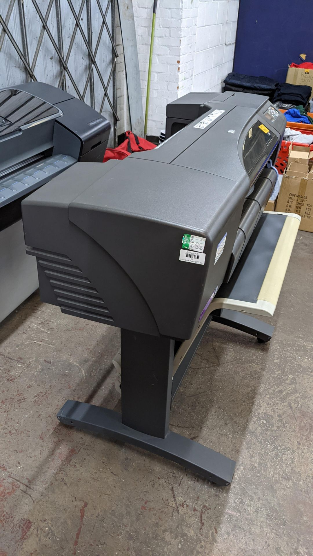 "HP DesignJet 800 wide format printer, factory model C7779B (24"") - Image 4 of 6"