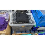 Approx 15 off children's black V neck jumpers - the contents of 1 large crate. NB crate excluded