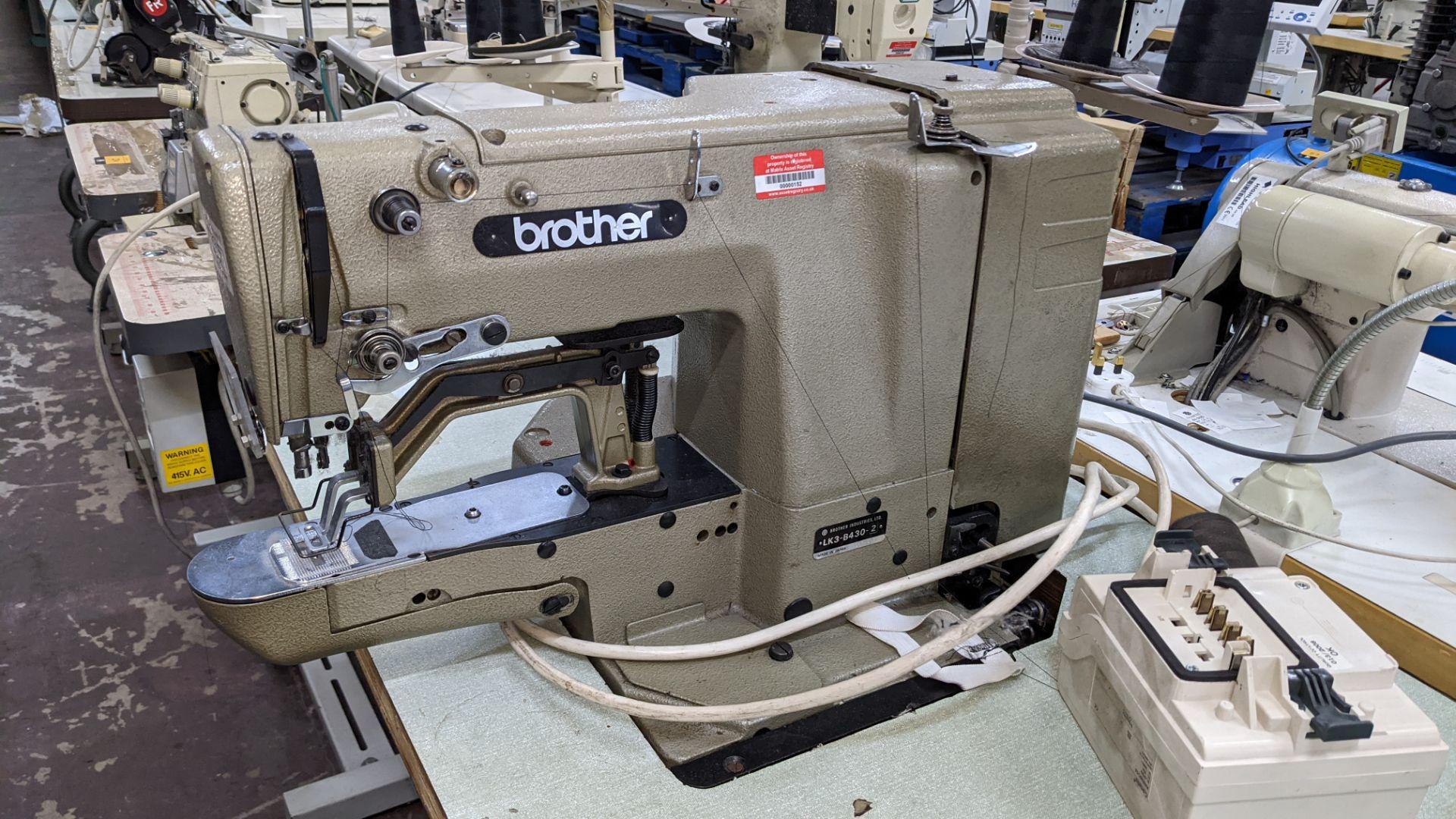 Brother bar tack sewing machine model LK3-B430-2 - Image 6 of 15