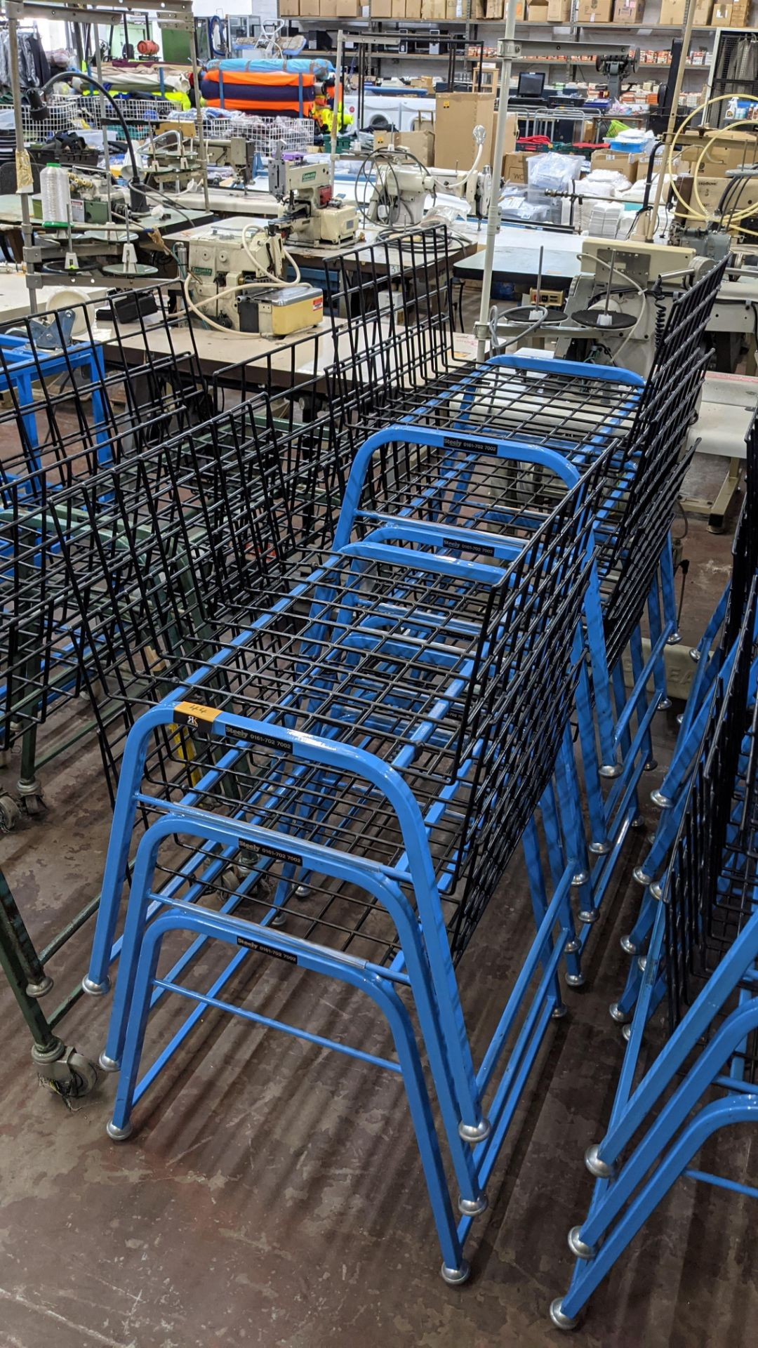 7 off matching blue stacking Steely mobile machinists baskets - Image 2 of 5