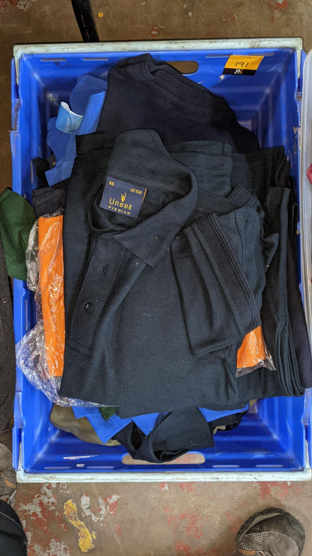Approx 23 off Uneek assorted blue polo shirts - Image 3 of 6