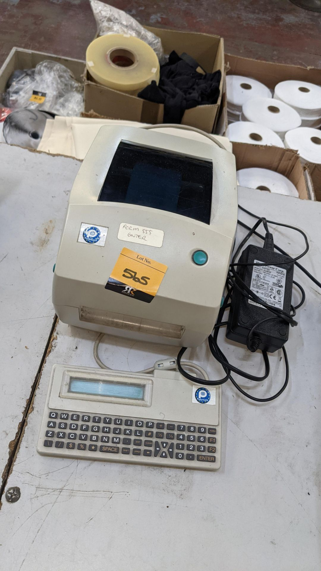 Label printer, model TLP2844 with keyboard & power pack