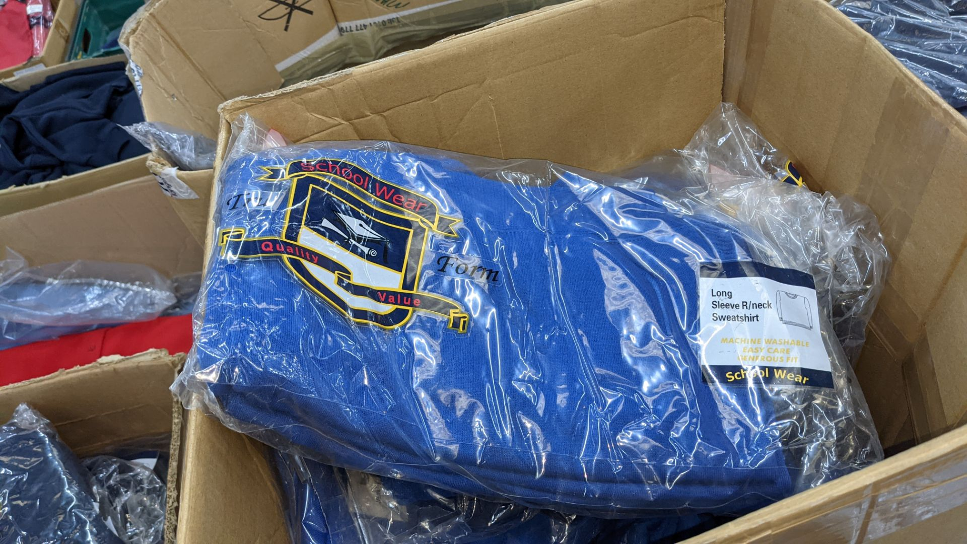 Approx 63 off blue children's sweatshirts - the contents of 1 tall box - Image 4 of 5