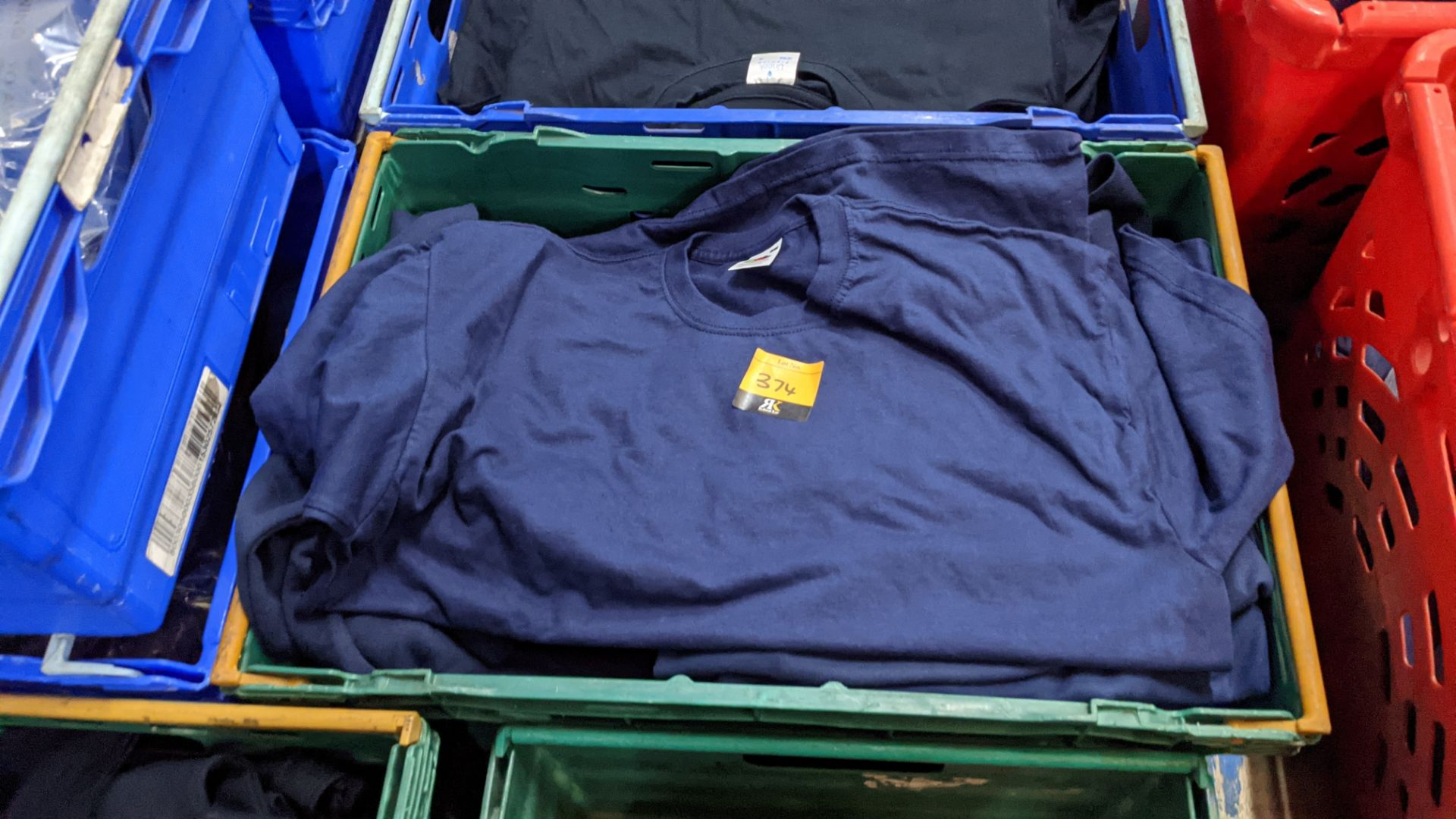 Approx 20 off assorted blue Fruit of the Loom tops comprising sweatshirts, polo shirts & t-shirts - Image 2 of 4