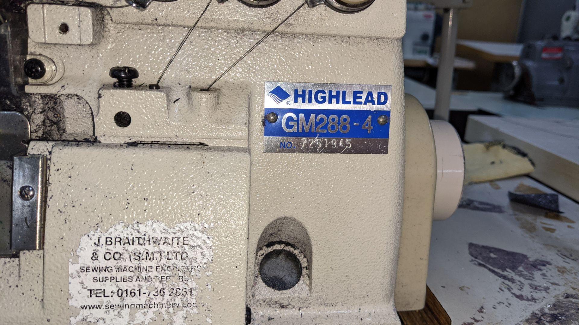 Highlead overlocker model GM288-4 - Image 9 of 16