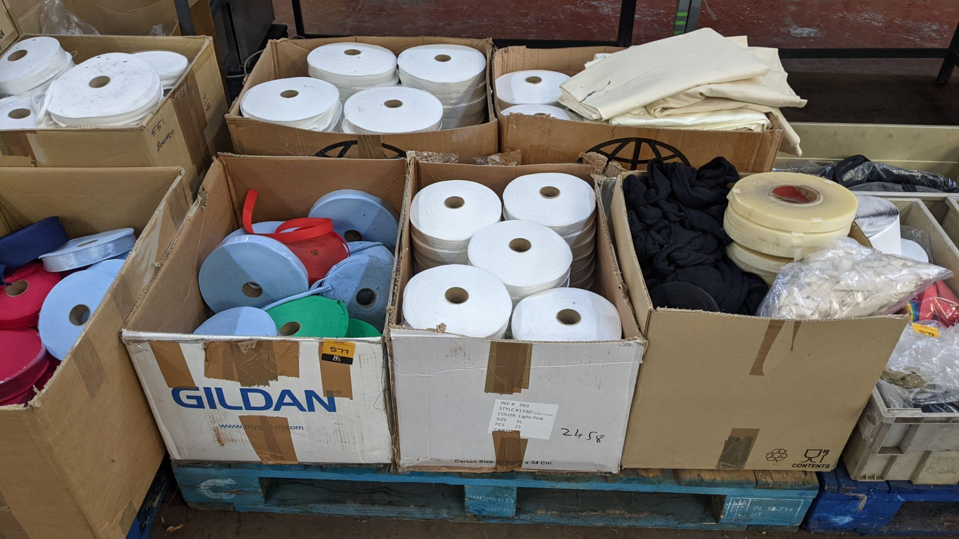 5 boxes of assorted tape & other materials