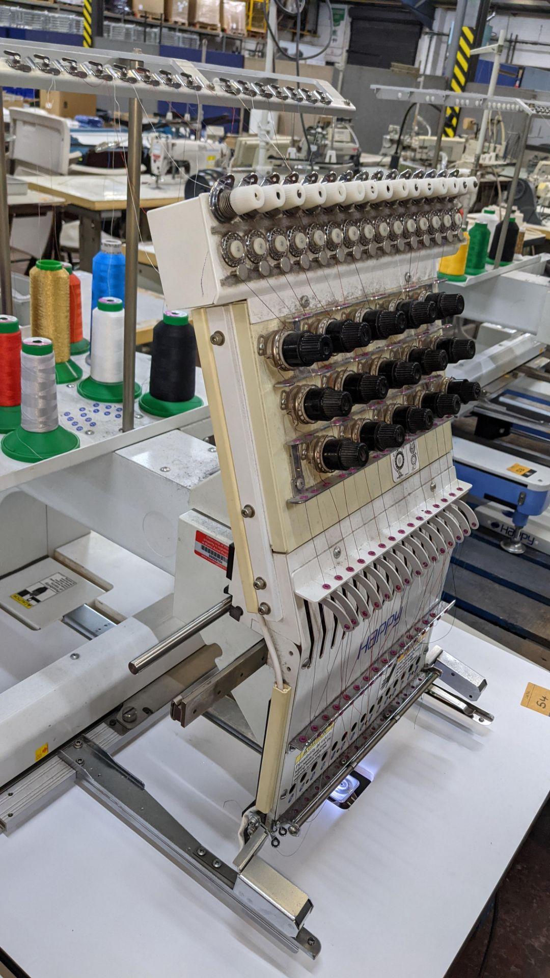 Happy single head embroidery machine model HCD-1501-40 - Image 15 of 22