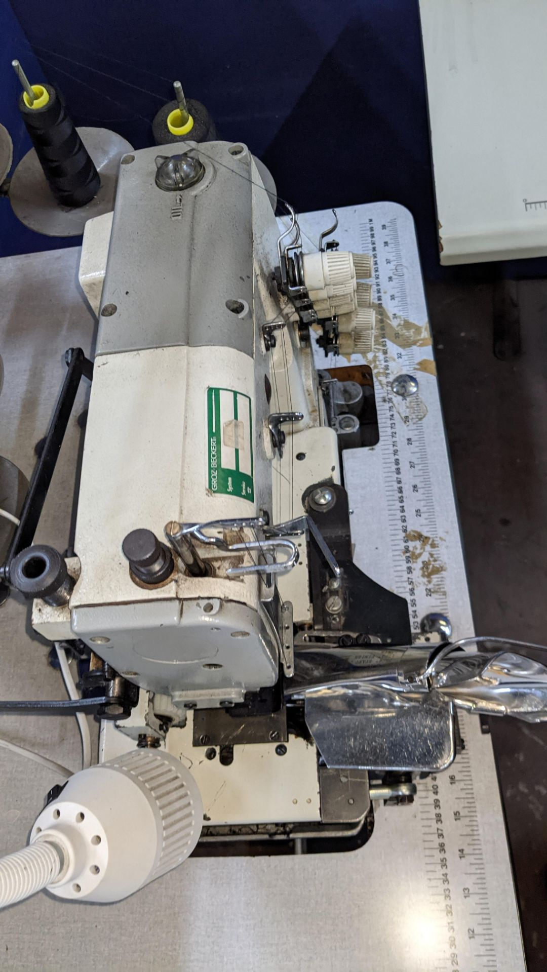 Ta King overlocker, model TK-FB-6504PMD, with edge band guide - Image 9 of 16