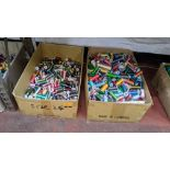 2 large boxes of assorted thread