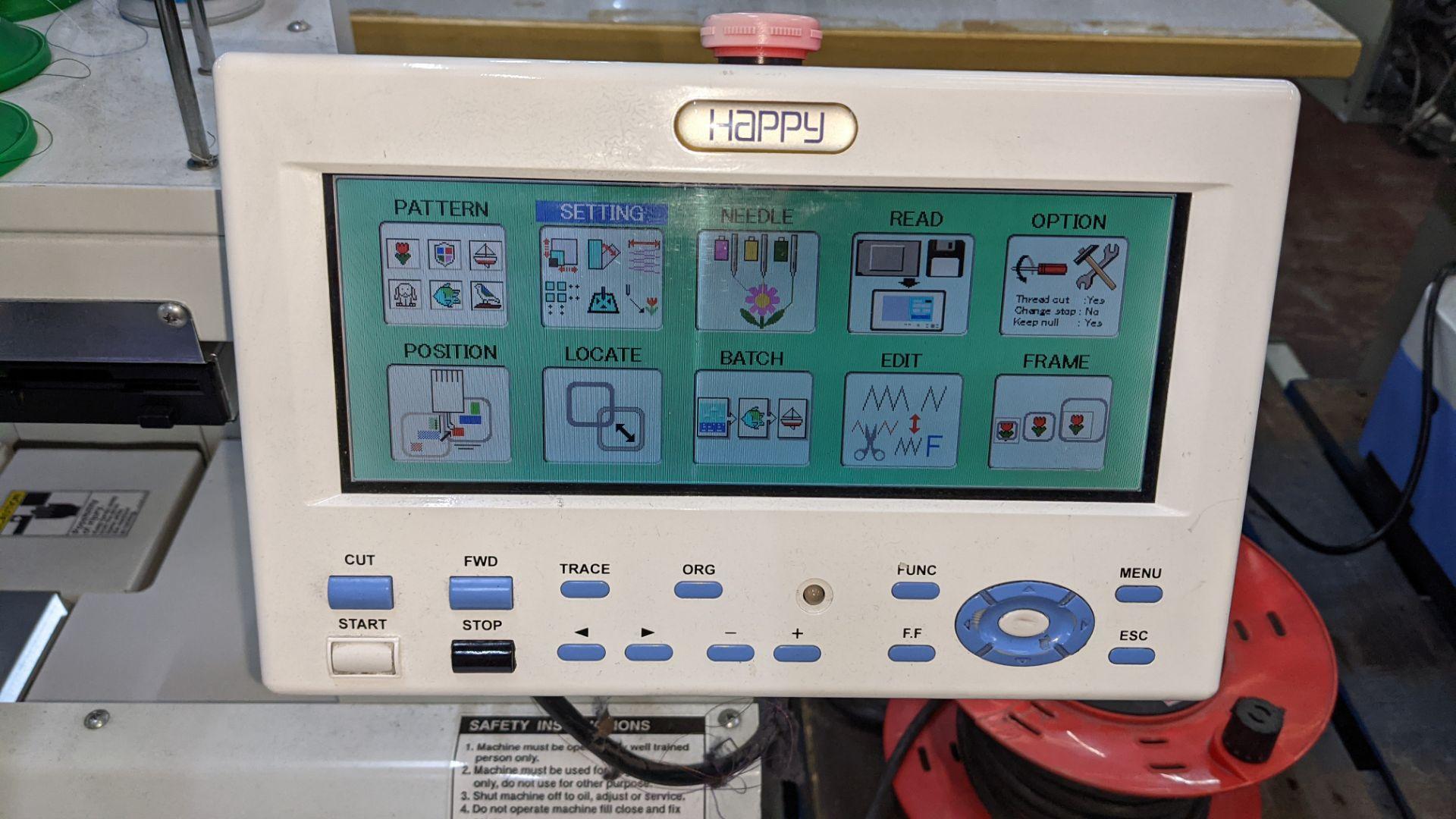 Happy single head embroidery machine model HCD-1501-40 - Image 7 of 22