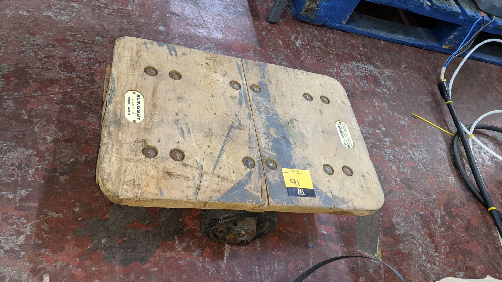Slingsby small 4 wheel dolly - platform 460mm x 310mm - Image 2 of 5
