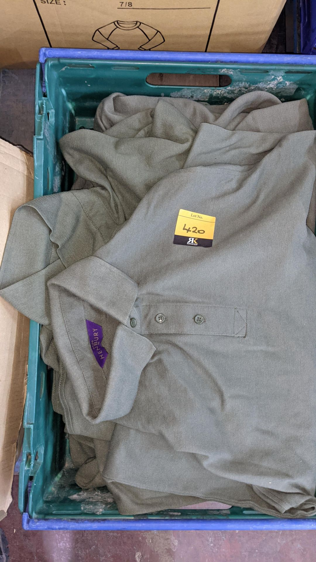 Approx 10 off green polo shirts - Image 3 of 4
