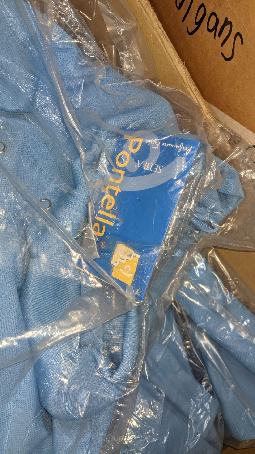 Approx 10 off pale blue polo shirts - 1 box - Image 4 of 5