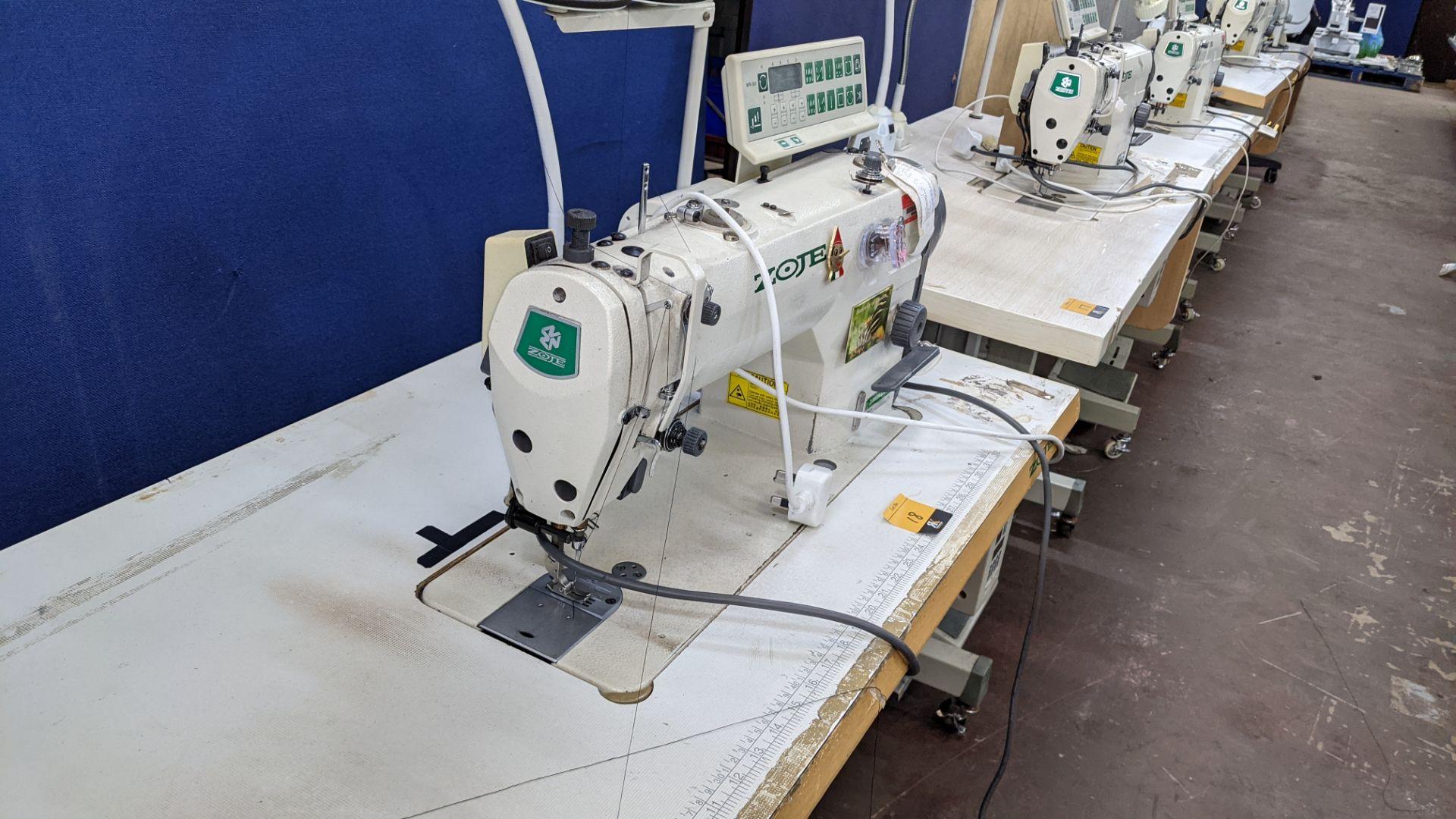 Zoje model ZJ9800A-D3B/PF lockstitch sewing machine with model WR-501 digital controller - Image 8 of 20