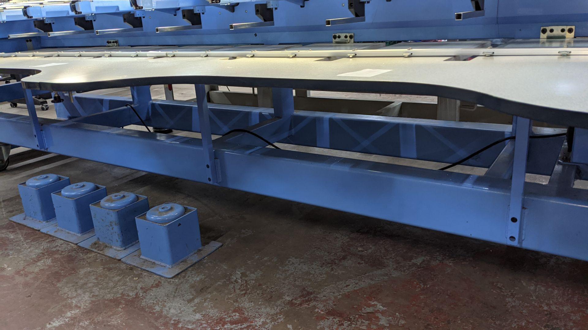 Happy 8 head embroidery machine, model HCG-1508B-45TTC, 15 needles per head, including frames & othe - Image 16 of 32