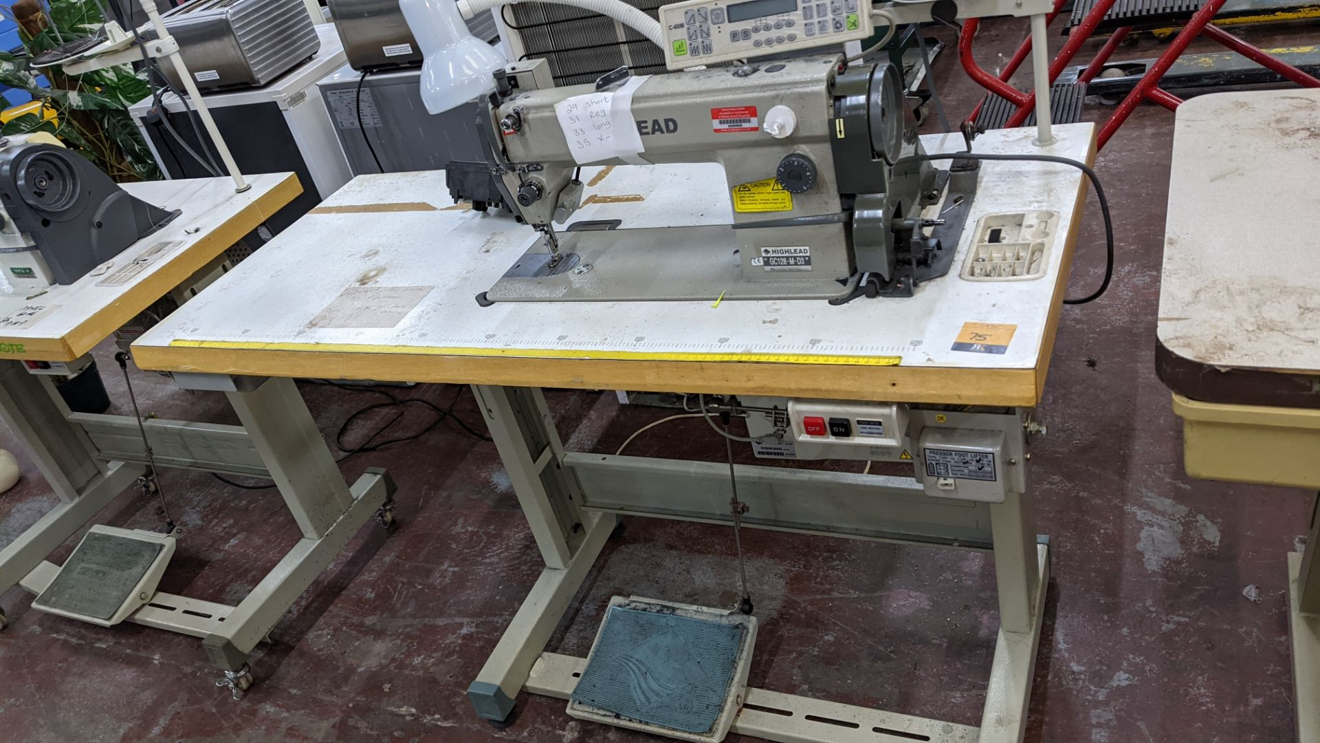 Highlead model GC128-M-D3 sewing machine with model C-60M digital controller - Image 2 of 17