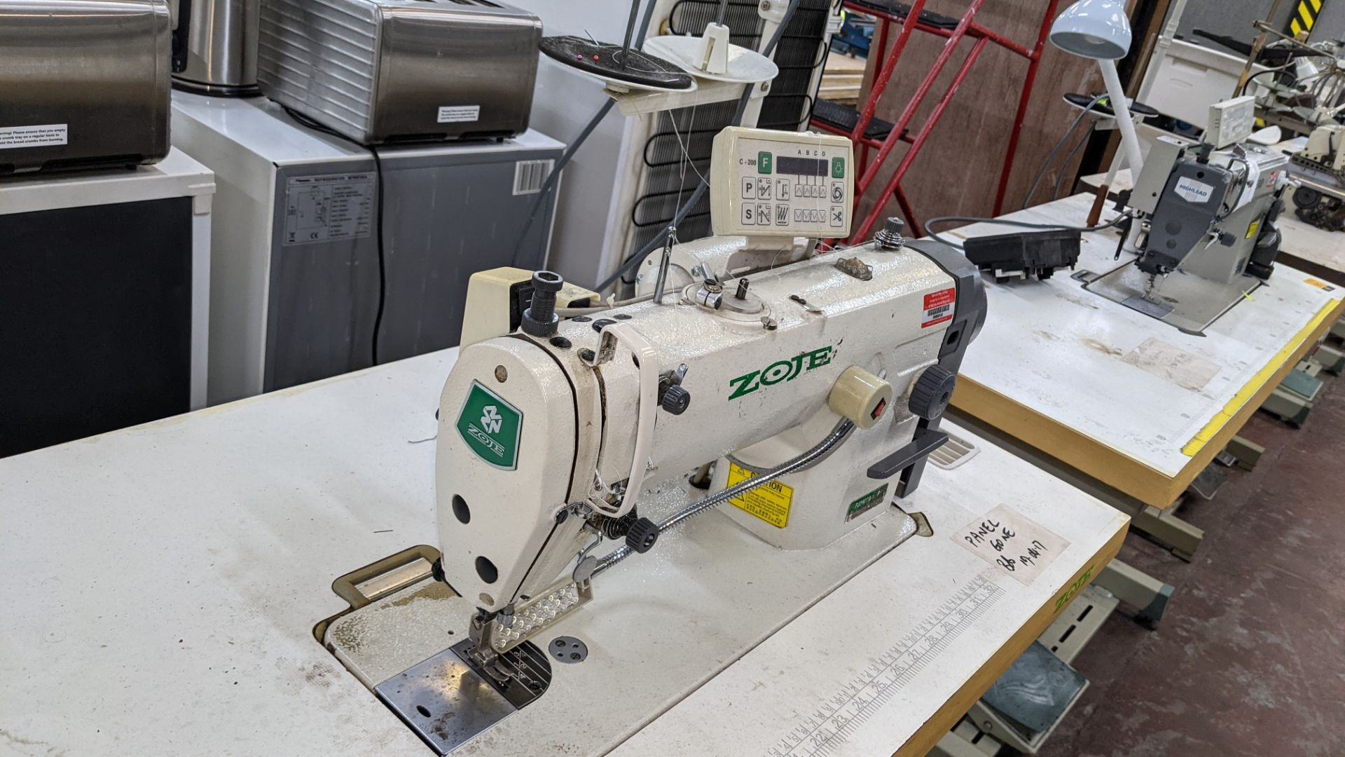 Zoje model ZJ8800A-D3/PF sewing machine with model C-200 digital controller - Image 9 of 15