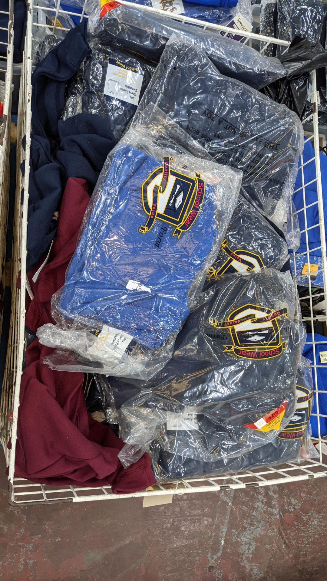 Large quantity of assorted children's sweatshirts - the contents of 1 large cage. NB cage excluded - Image 4 of 7