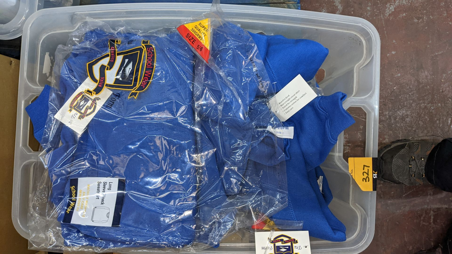 Approx 19 off blue children's sweatshirts - the contents of 1 crate. NB crate excluded - Image 3 of 4