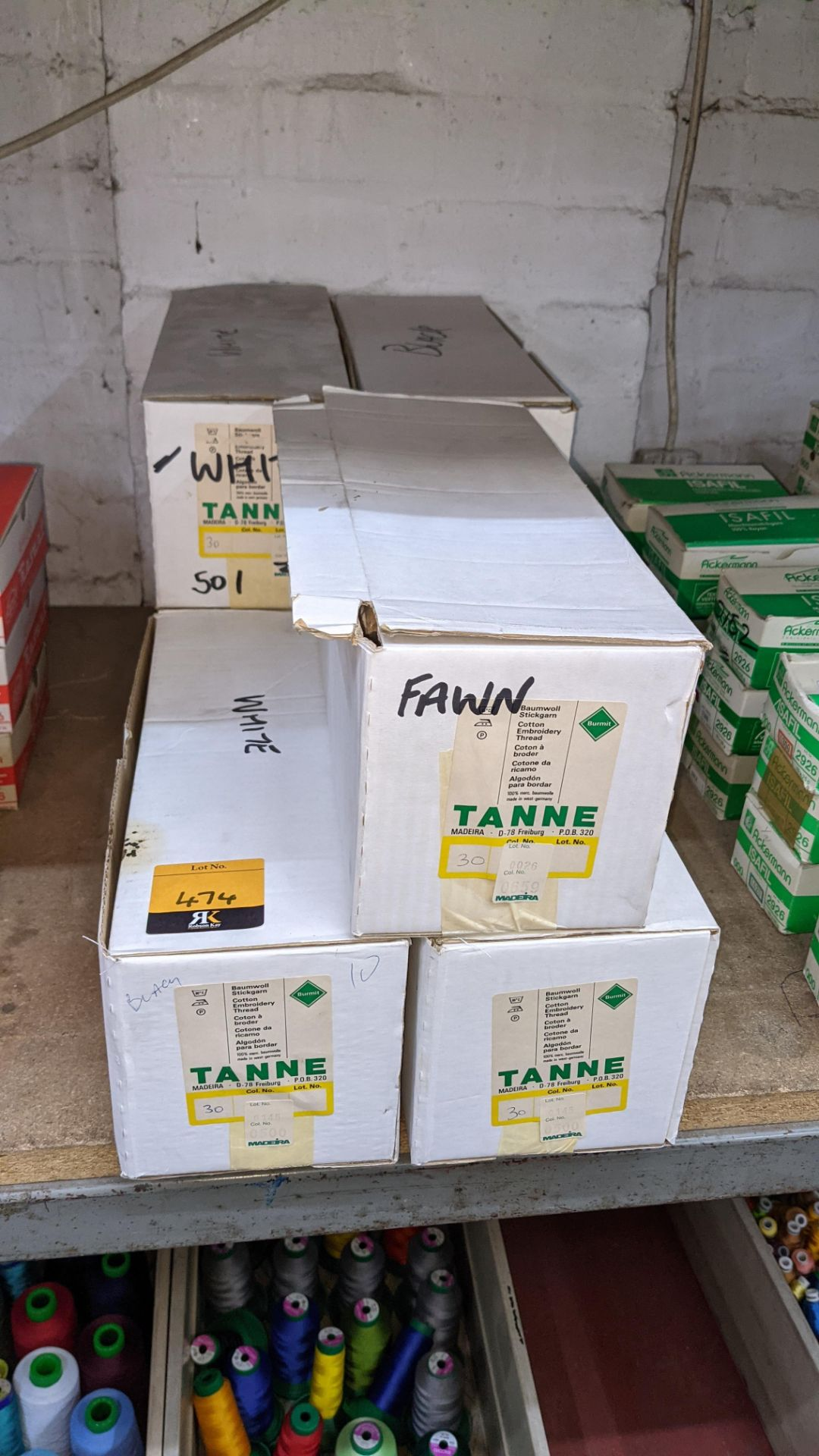 7 large boxes of Madeira Tanne cotton embroidery thread - Image 2 of 7
