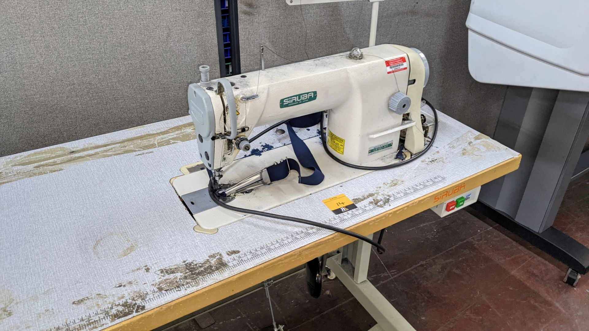 Siruba sewing machine, model L818D-M1, with edge band guide - Image 4 of 13