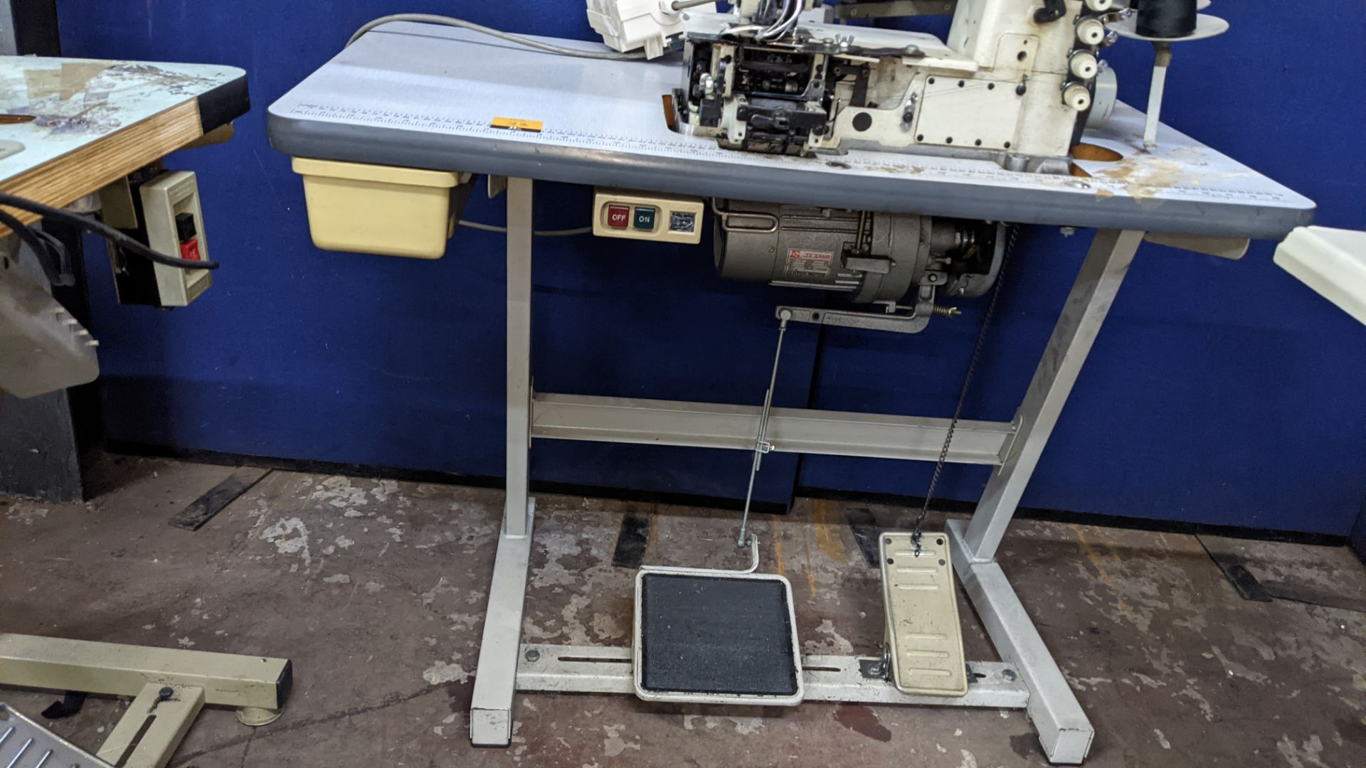 Ta King overlocker, model TK-FB-6504PMD, with edge band guide - Image 14 of 16