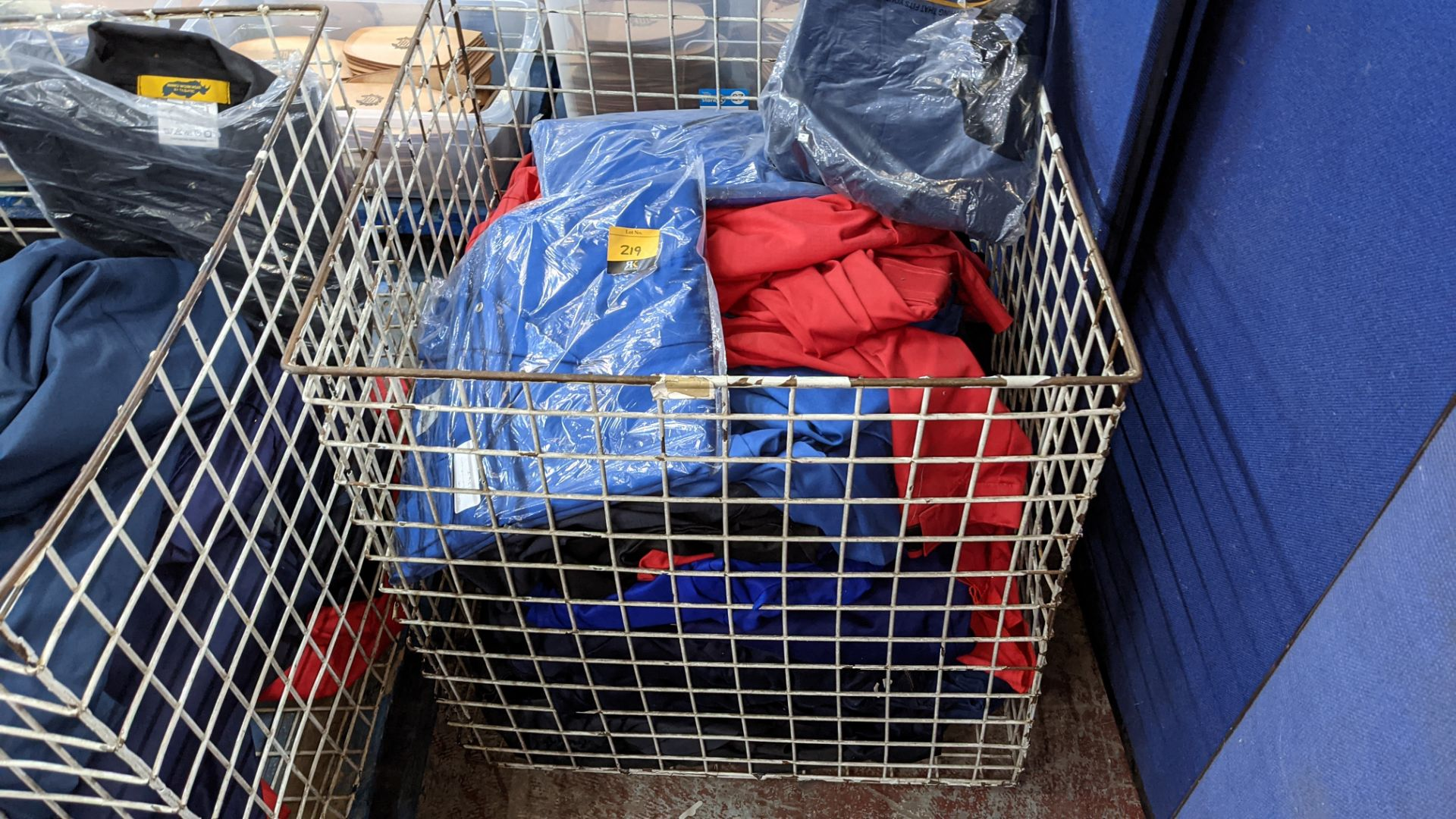 The contents of a cage of assorted work clothing. NB cage excluded - Image 2 of 8