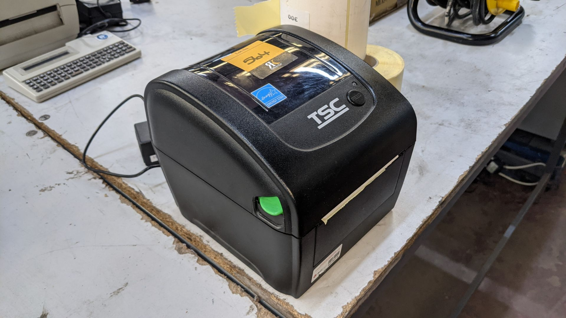 TSC label printer, model DA210 with power pack & reels of spare labels - Image 3 of 5