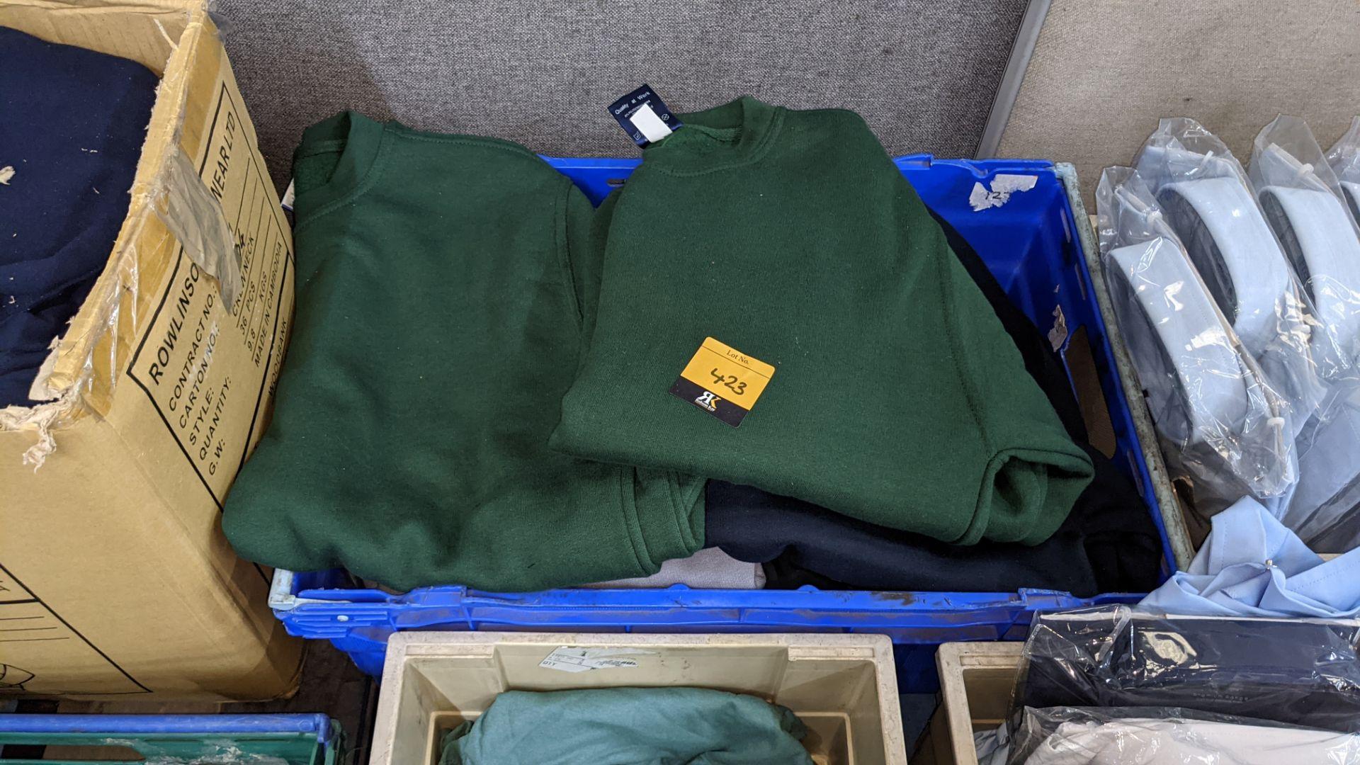 Quantity of assorted colour sweatshirts