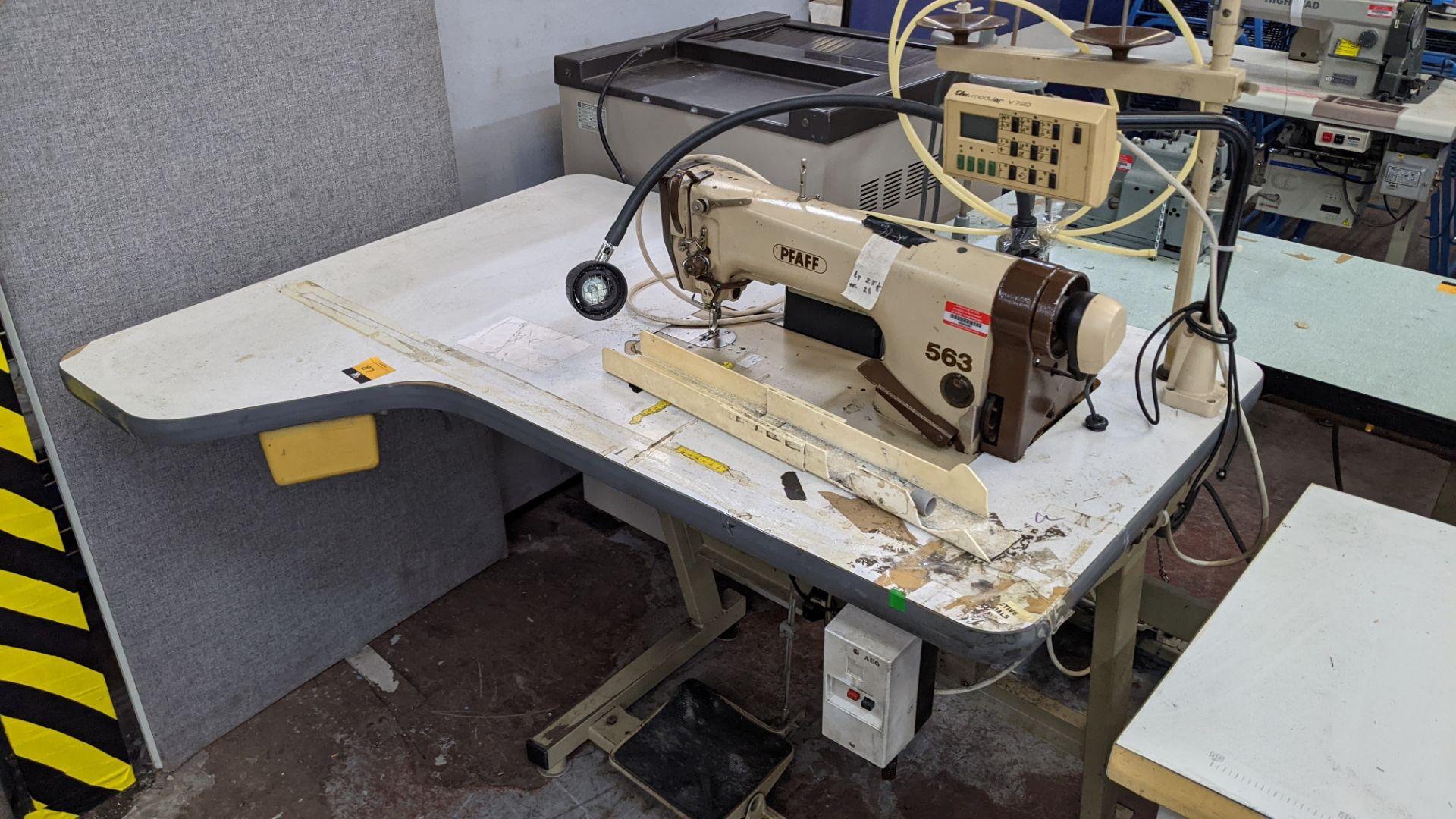 Pfaff model 563 sewing machine with Efka modular V720 digital controller - Image 2 of 13