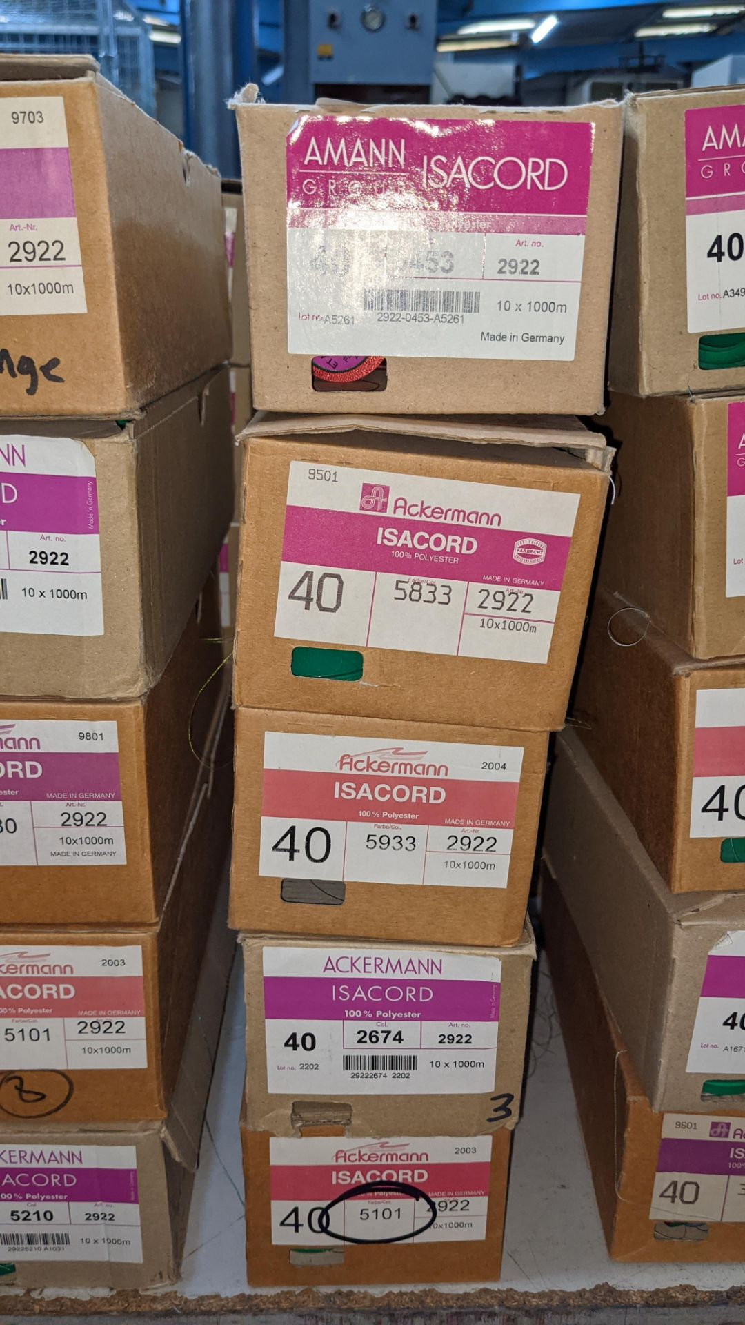 20 boxes of Ackermann Isacord (40) polyester thread - Image 3 of 8
