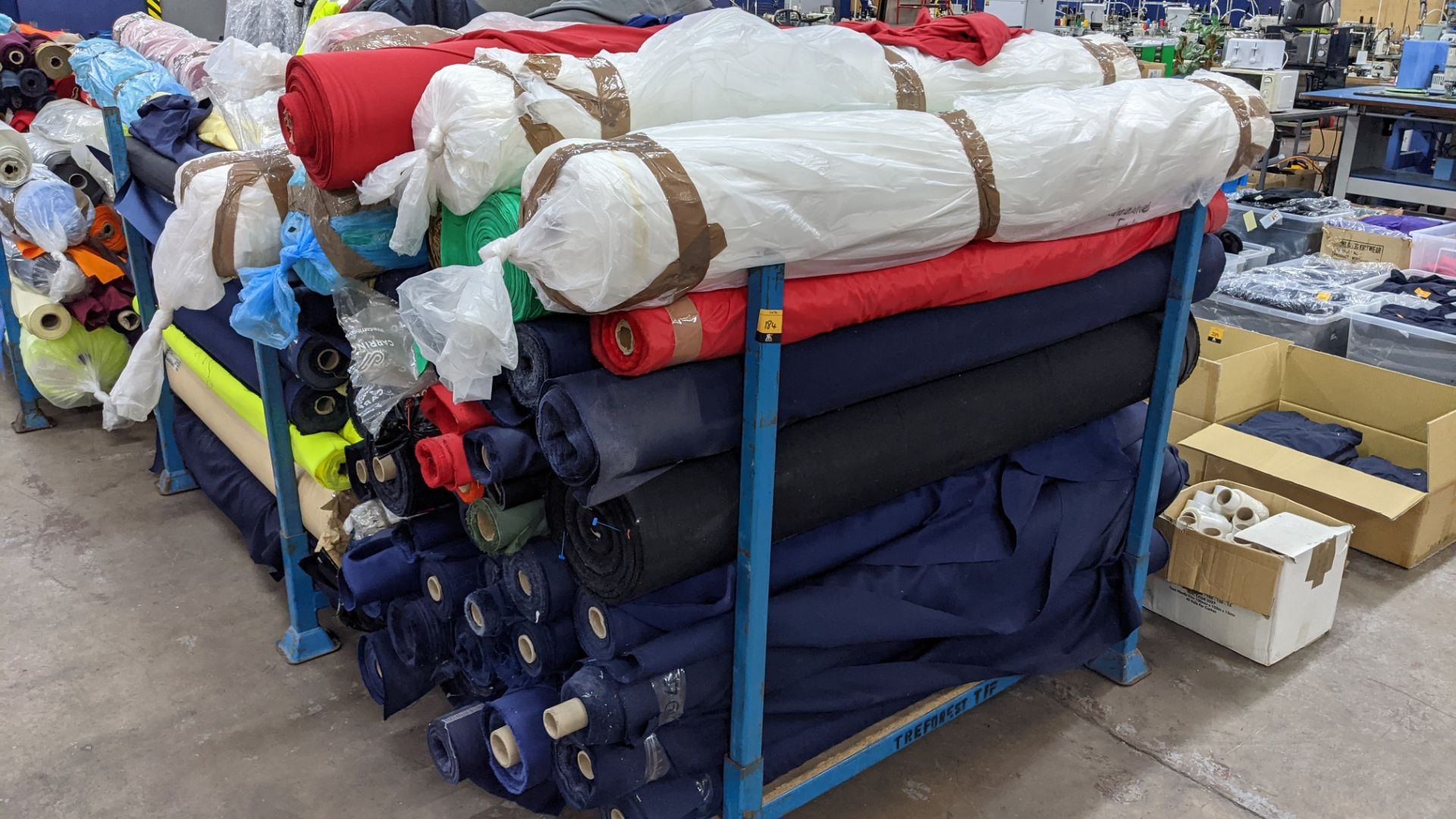 The contents of a large stillage of fabric. Please note the stillage is excluded and cannot be remo