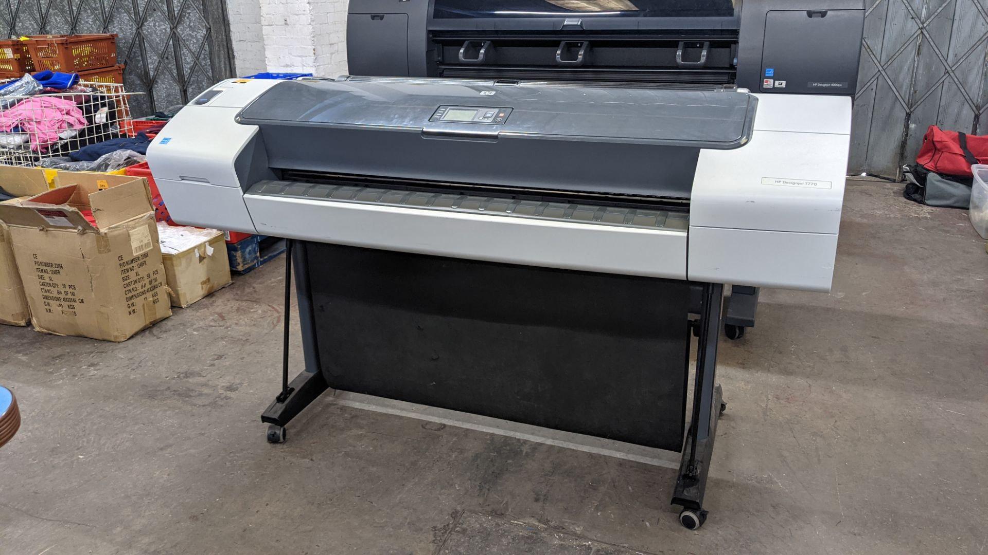 "HP DesignJet T770 wide format printer, product number CH539A/CN375A, factory number CH539-64001 (44"" - Image 4 of 10"