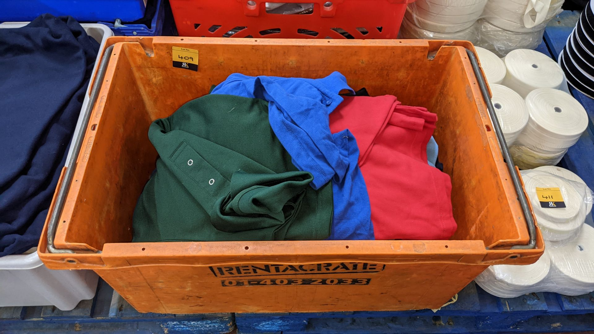 Quantity of assorted polo shirts & similar - the contents of 1 large crate