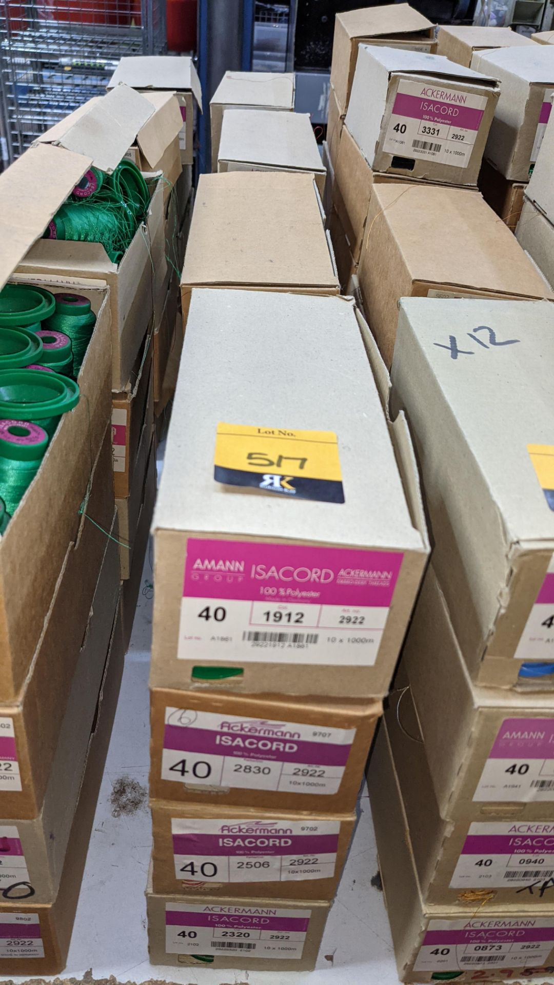 16 boxes of Ackermann Isacord (40) polyester thread - Image 2 of 9