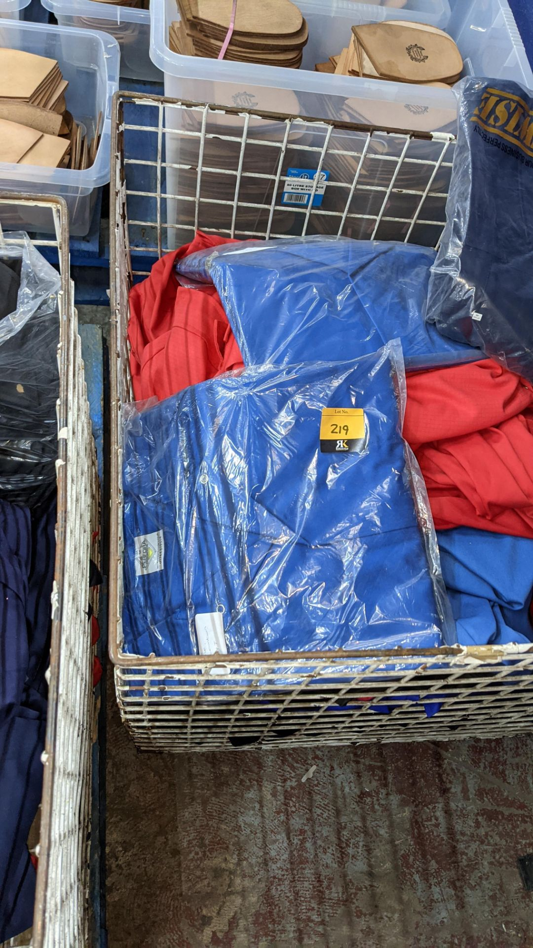 The contents of a cage of assorted work clothing. NB cage excluded - Image 4 of 8